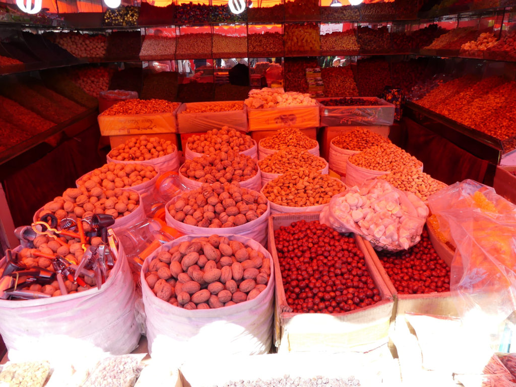 Nuts and dried fruits in Silk Road