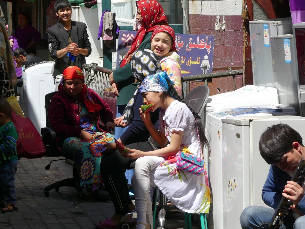 Uyghur Locals having Food Business together Silk Road