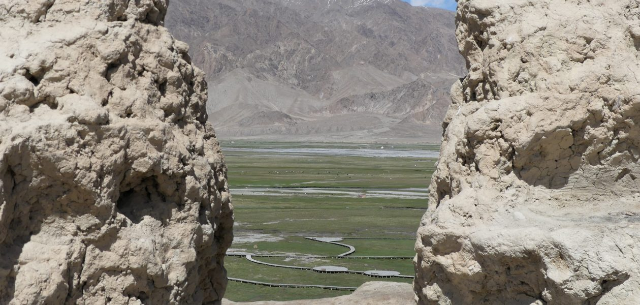 Tashkurgan, China, grasslands, from Stone Fort