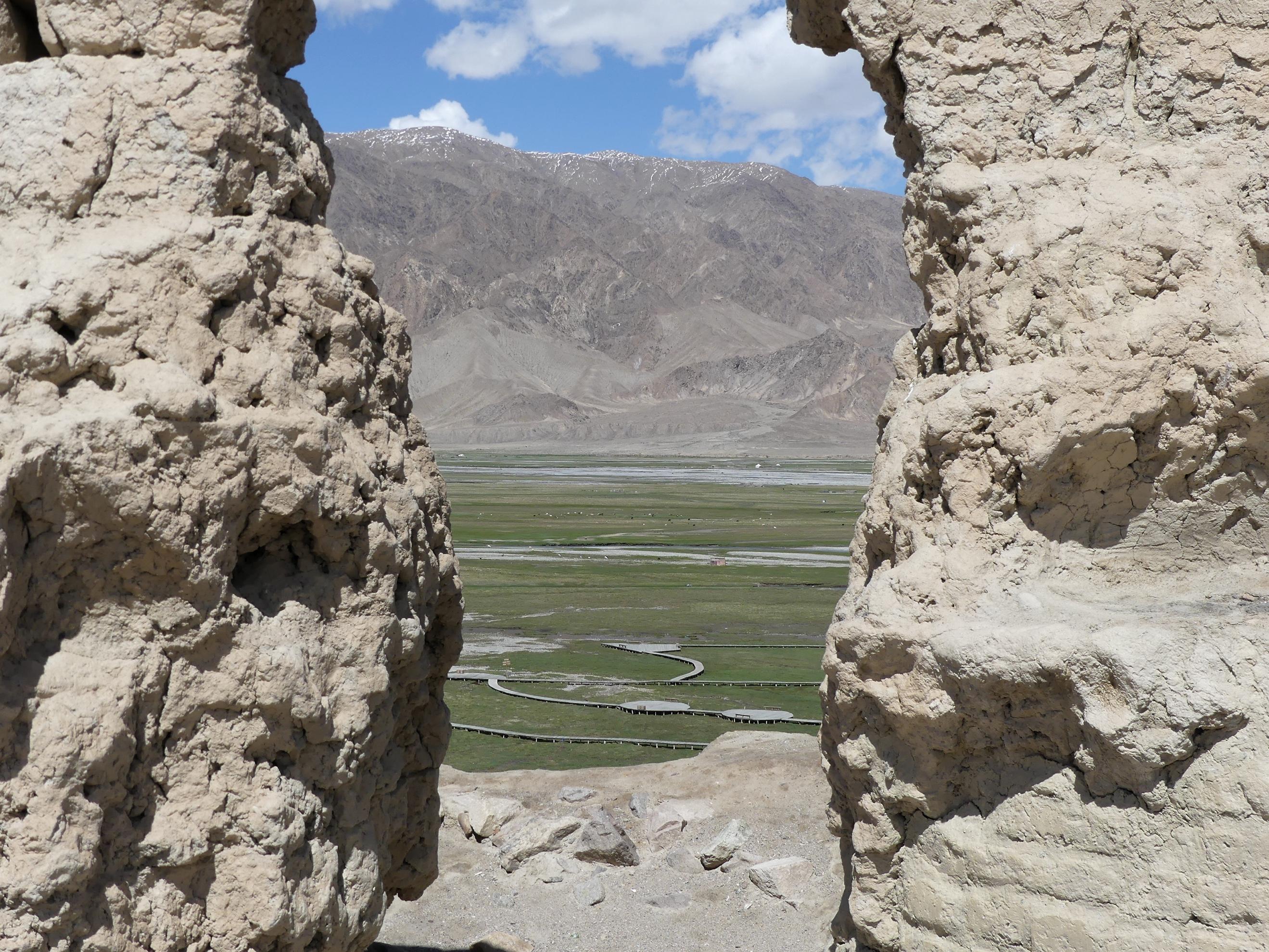 Tashkurgan, China, grasslands, from Stone Fort