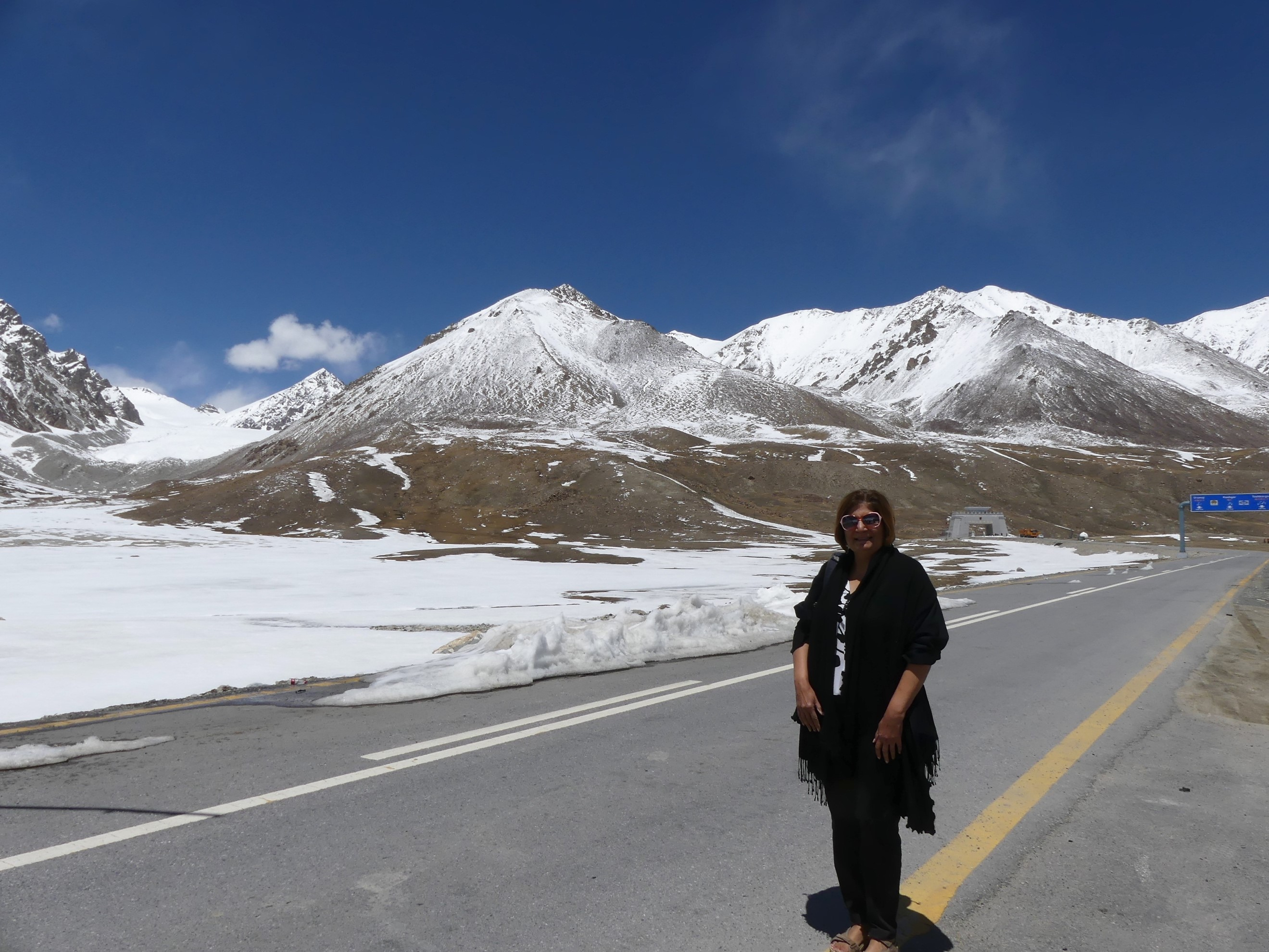 Khunjerab Pass, Hunza from Pakistan side, border between China and Pakistan, Highest border crossing in the world