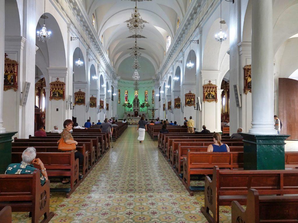 Beautiful churches were everywhere,