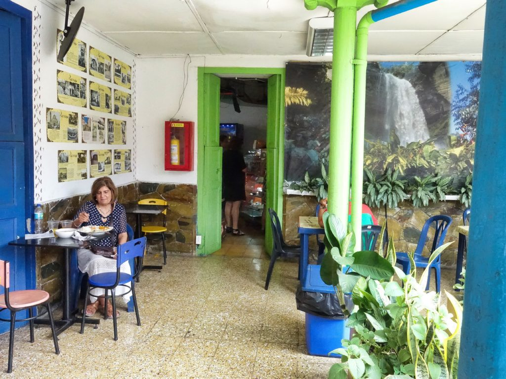 We stopped for lunch at a small café courtyard, for their Almuerzo Menu Del Dia
