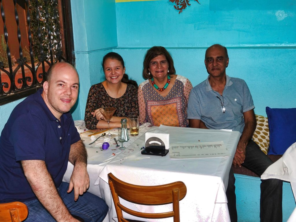 With Ronny and Martha at Azul restaurant