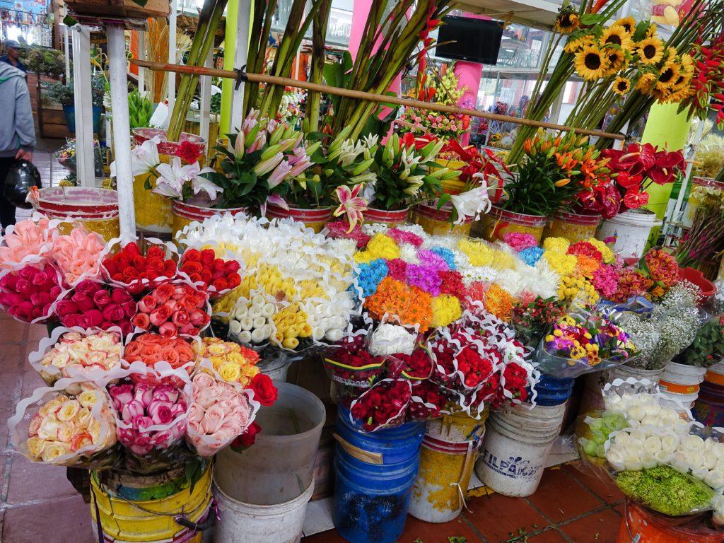 Flower & meat market was also in Galleria Alameda