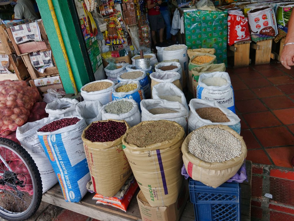 Dried legumes, rice, grains