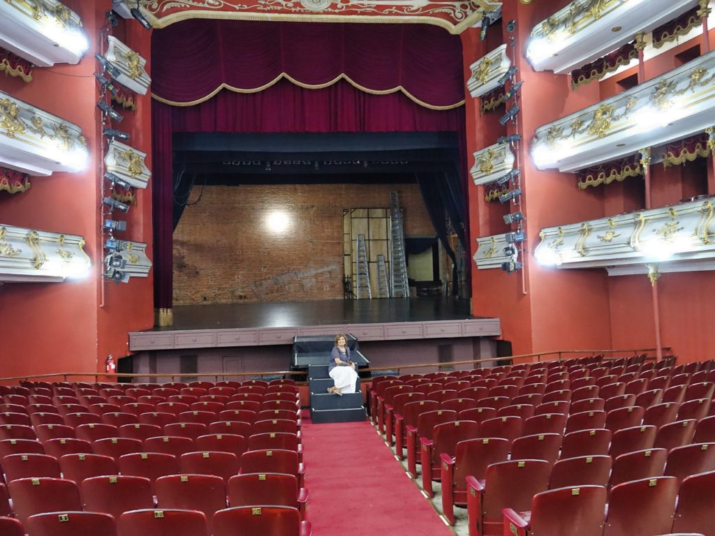 Inside the Teatro where performances are held regularly