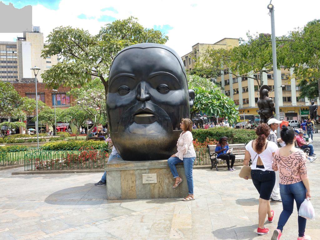 All Botero's sculptures showed oversized figures