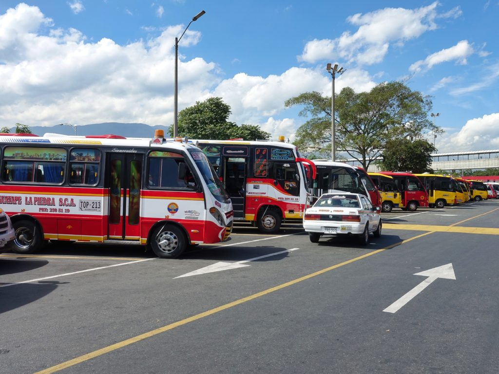 Terminal du Norte, buses available to take you to places north of Medellin