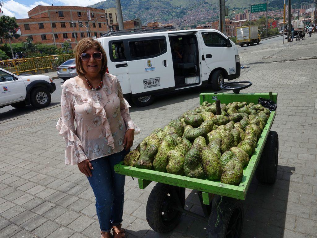 Street fruits; jackfruit cart