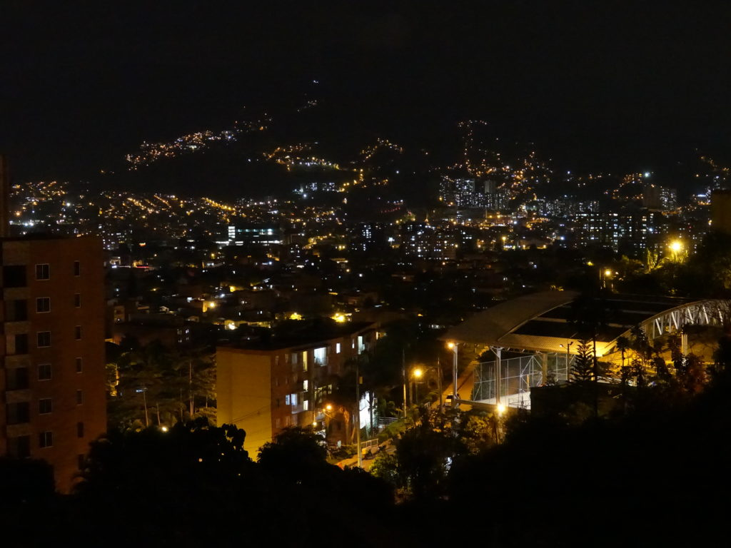 Medellin view from our apartment
