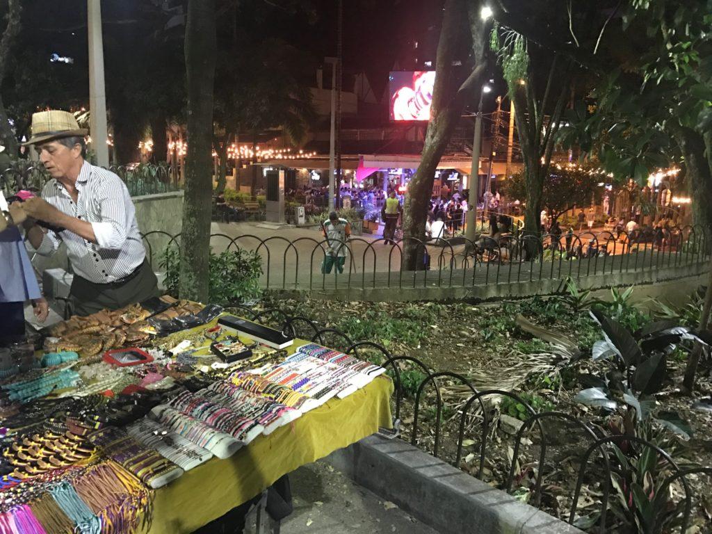 Park Lleras at night