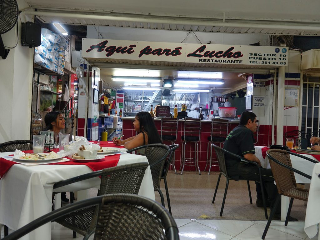 Nice restaurant inside the market; very reasonably price set menus for about $5 (3 dishes)